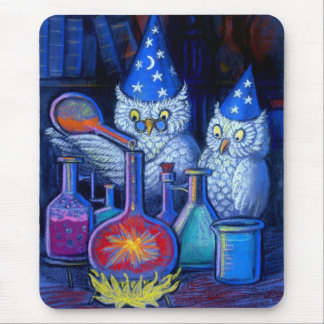 The Owl Chemists Mouse Pad