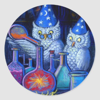 The Owl Chemists Classic Round Sticker