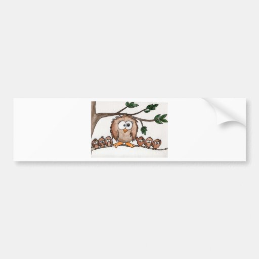 The Owl Family Bumper Stickers