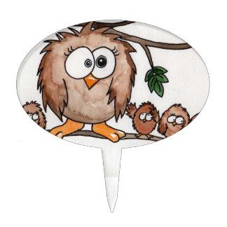 The Owl Family Cake Topper