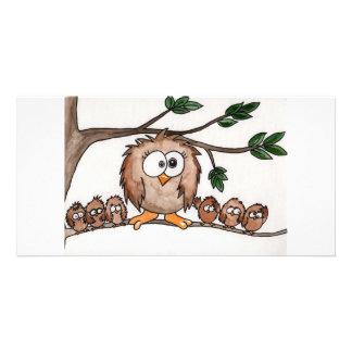 The Owl Family Card