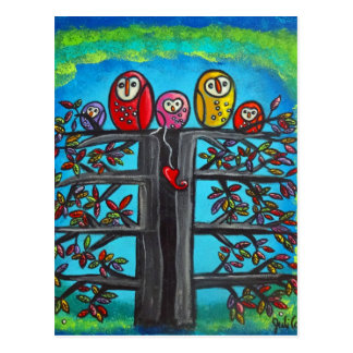 The Owl Family II Postcard
