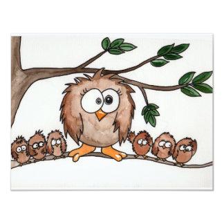 The Owl Family Custom Invitation