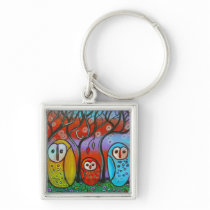 The Owl Family Key Chain