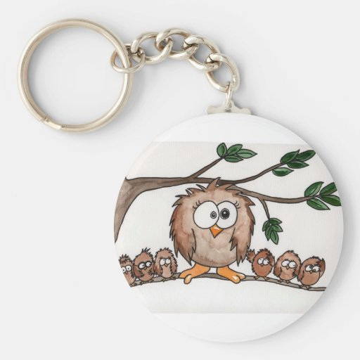 The Owl Family Keychains