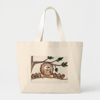 The Owl Family Large Tote Bag