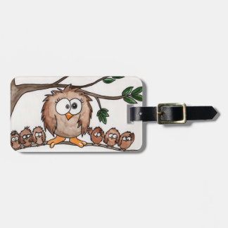The Owl Family Luggage Tag