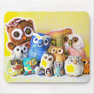 The Owl Family Mouse Mats