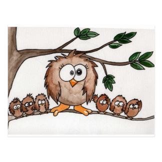The Owl Family Postcard