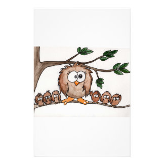 The Owl Family Stationery