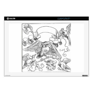 "The owl in fight with other birds by Albrecht Dure 17"" Laptop Skin"
