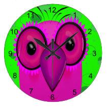 The Owl Large Clock