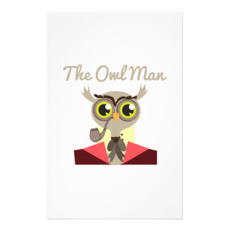 The Owl Man Customized Stationery