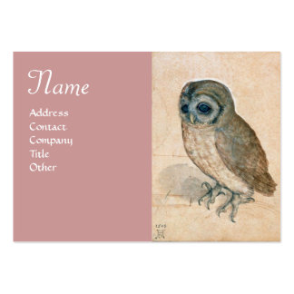 THE OWL Monogram ,antique pink Large Business Card