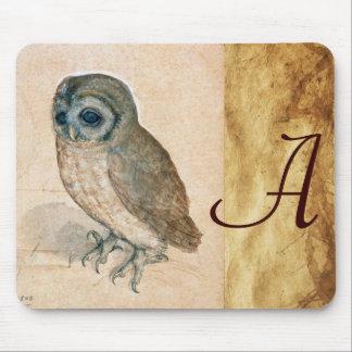 THE OWL MONOGRAM Parchment Mouse Pad