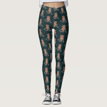 The Owl of wisdom and flowers Leggings