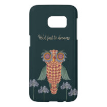 The Owl of wisdom and flowers Samsung Galaxy S7 Case