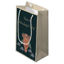 The Owl of wisdom and flowers Small Gift Bag