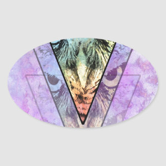 The Owl Oval Sticker