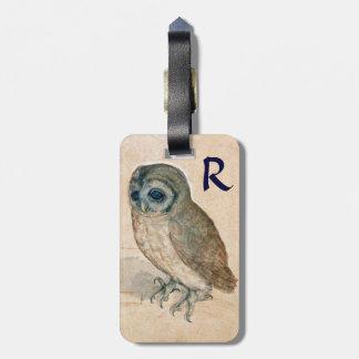 THE OWL Parchment Monogram Bag Tag