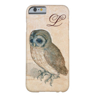 THE OWL , PIink ,Sepia Monogram Barely There iPhone 6 Case