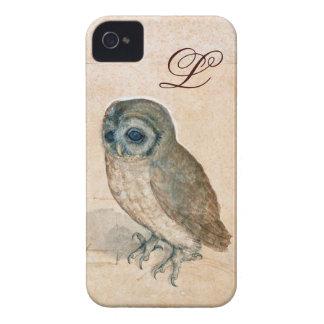 THE OWL PIink Sepia Monogram Case-Mate iPhone 4 Case