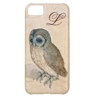 THE OWL , PIink ,Sepia Monogram Cover For iPhone 5C
