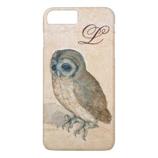 THE OWL , PIink ,Sepia Monogram iPhone 7 Plus Case