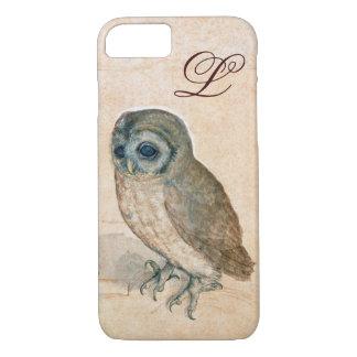THE OWL , PIink ,Sepia Monogram iPhone 8/7 Case