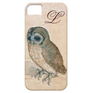 THE OWL , PIink ,Sepia Monogram iPhone SE/5/5s Case