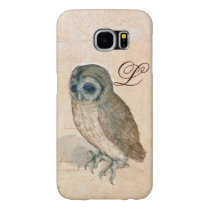 THE OWL , Pink ,Sepia Monogram Samsung Galaxy S6 Case
