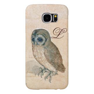 THE OWL , Pink ,Sepia Monogram Samsung Galaxy S6 Case