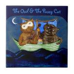 The Owl & The Pussycat Ceramic Tiles