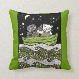 The Owl & the Pussycat Love Throw Pillow