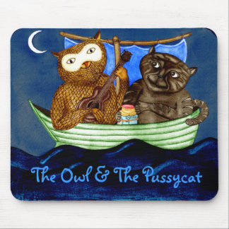 The Owl & The Pussycat Mouse Pad