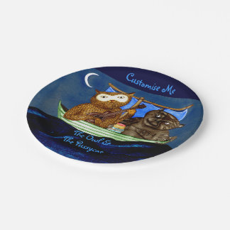 The Owl & The Pussycat Paper Plate
