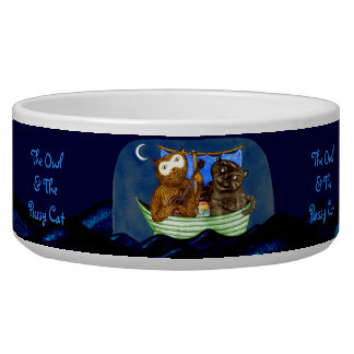 The Owl & The Pussycat Dog Food Bowls