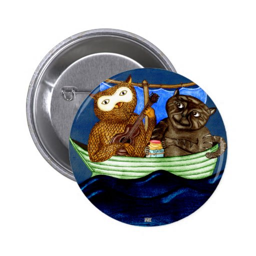 The Owl & The Pussycat Pinback Button