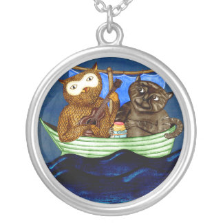 The Owl & The Pussycat Round Pendant Necklace