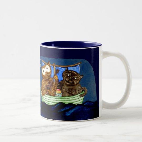 The Owl & The Pussycat Two-Tone Coffee Mug