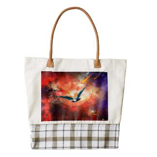 The owl zazzle HEART tote bag