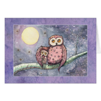 The Owls and the Moon Card