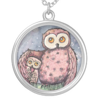 The Owls and the Moon Necklace