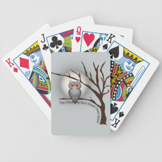 The Owls Are Not What They Seem Bicycle Playing Cards
