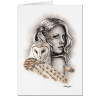 The Owls Girl Greeting Card