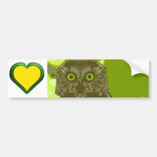 The Owl's Wisdom Bumper Sticker