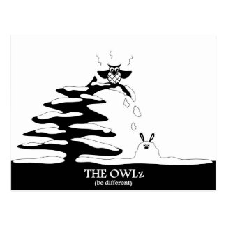The Owlz - owl and rabbit Postcard