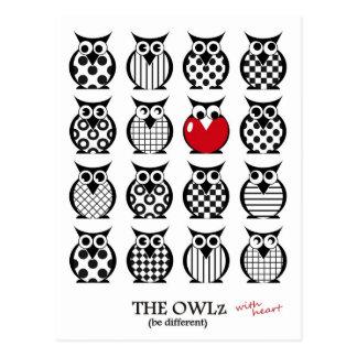 The Owlz with heart Postcard