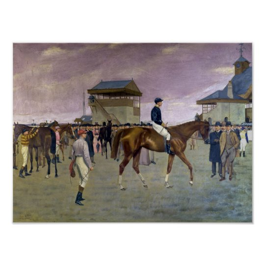 The Owner's Enclosure, Newmarket Poster