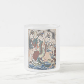 The Ox Figure of the Chinese Zodiac Wall Painting 10 Oz Frosted Glass Coffee Mug
